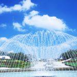 みちのく杜の湖畔公園噴水